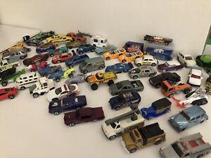 Hot-Wheels-Matchbox-Maisto-Lote-Mixto-De-58-vehiculos-usados-DIE-CAST