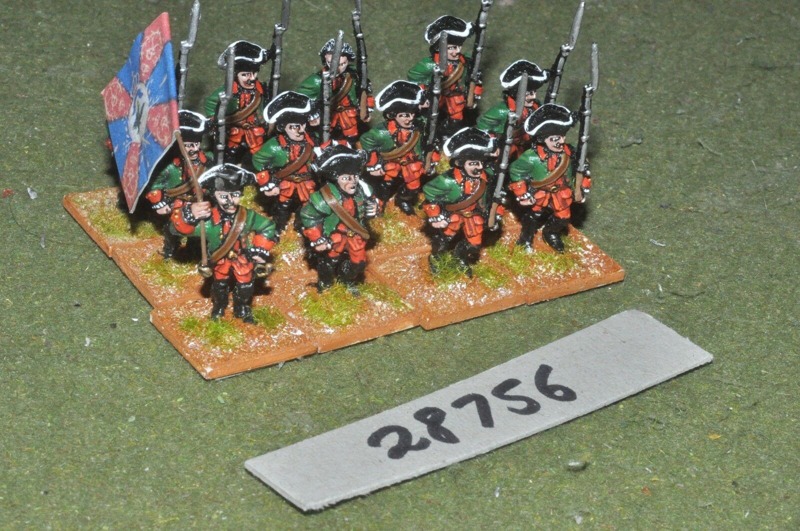 25mm 7YW   russian - regt. 12 figures - inf (28756)