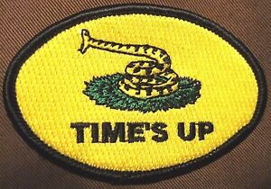 034-Time-039-s-Up-034-patch-Dull-039-Hawk-flag-034-Don-039-t-tread-on-me-034-Gadsden-flag-dullhawk
