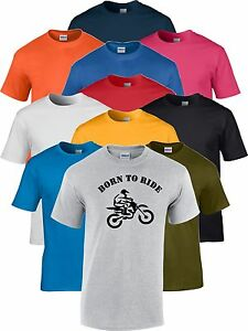 Born-to-Ride-corredor-de-motocross-moto-bike-Biker-Camiseta-de-Regalo-Divertido