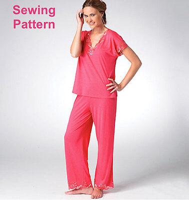 Kwik Sew K3980 Pattern Misses Top, Nightgown & Pants XS-XL BN