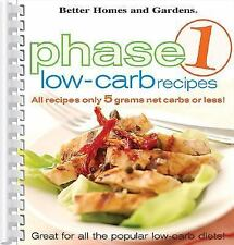 Phase 1 Low-Carb Recipes (2005, Spiral)
