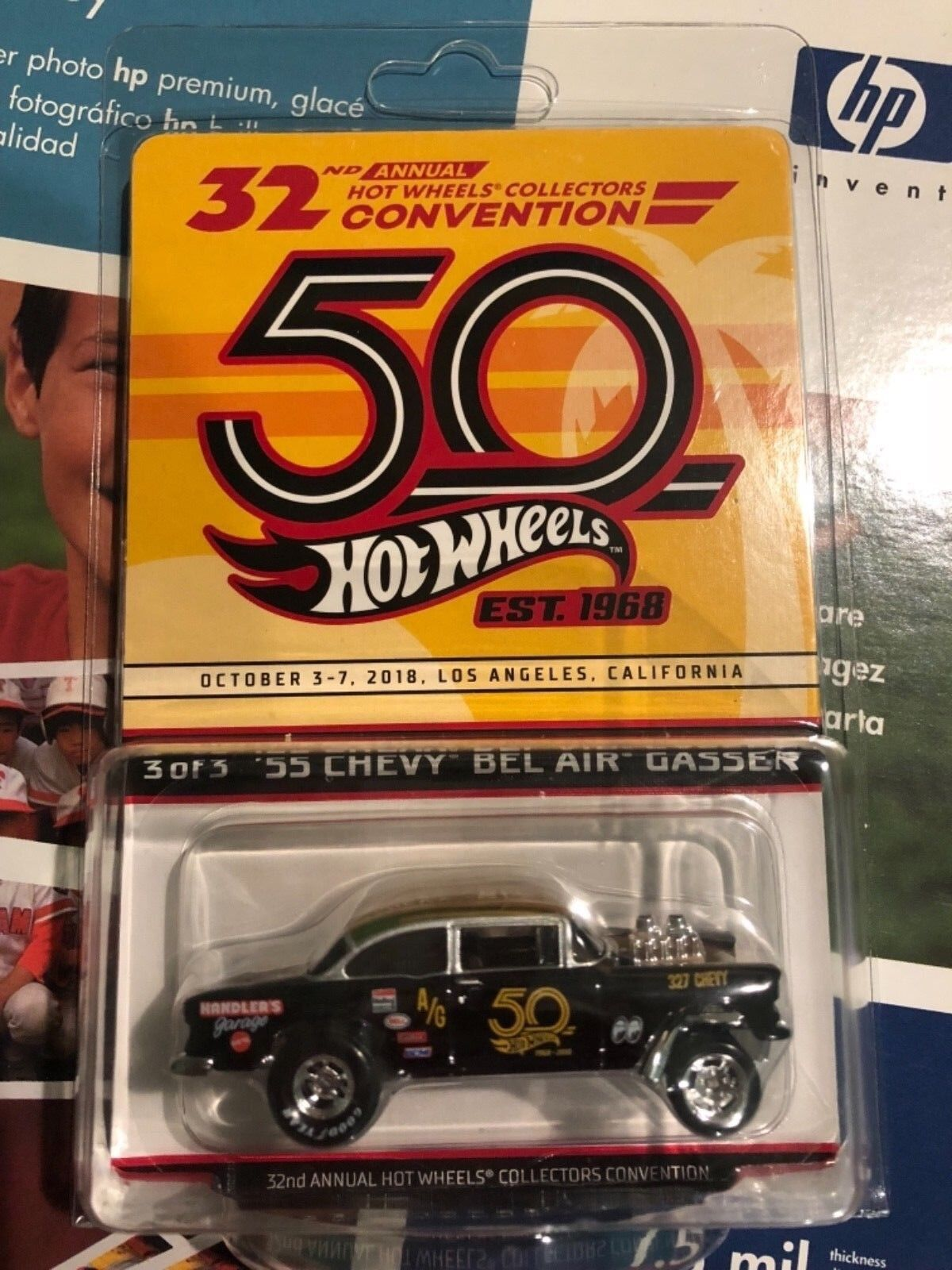 Hot Wheels 32nd collectionneurs Convention finale VOITURE 55 CHEVY BEL AIR GASSER