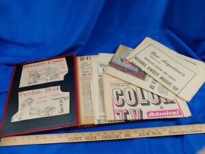 1967-68-Indiana-University-IU-Hoosiers-Football-NCAA-Rose-Bowl-Scrapbook-VTG-OJ