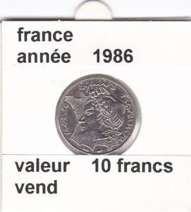 Prix Pas Cher Bf 1 )pieces De 10 Francs France 1986 La Bretagne Touche Le Bore Tu Lise Rare