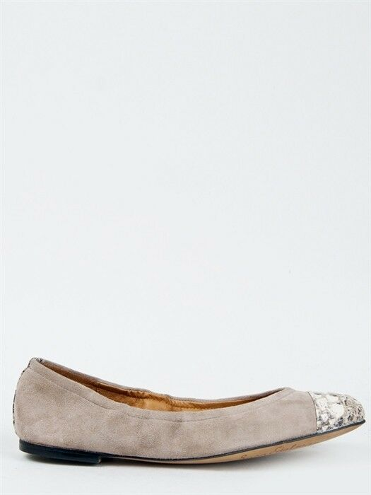 Sam Edelman Baxton Flat 2 Ballet Flat Baxton Putty Suede Cap Toe Slip On Ballet Flat gray 203075