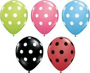 Polkadot-Print-Around-2-for-1-50-Balloon-Red-Black-Blue-Lime-Pink