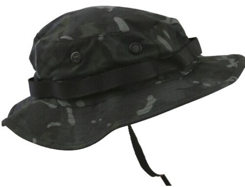 BOONIE US STYLE JUNGLE HAT IN BTP OR BTP BLACK ARMY MILITARY