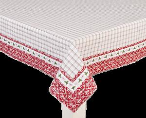 Landhaus Stil Clayre /& Eef Tischdecke *100 x 100 cm Strawberry Garden *
