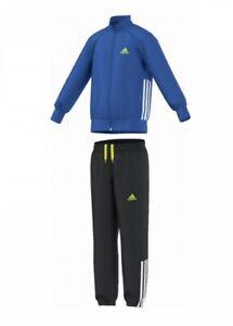 Details zu ADIDAS Kinder Trainingsanzug Jogginganzug Fußball Anzug blauschwarz Gr.110 134