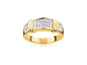 Anello-Diamanti-14-K-Oro-Giallo-585-Principessa-1-10-Carato