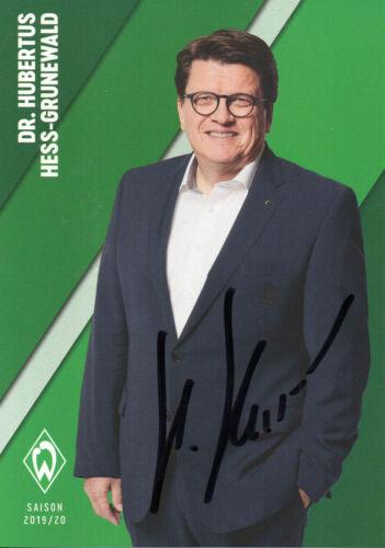 Hubertus Hess-Grunewald nicht im Kaufsatz Autogramm Werder Bremen - 19//20