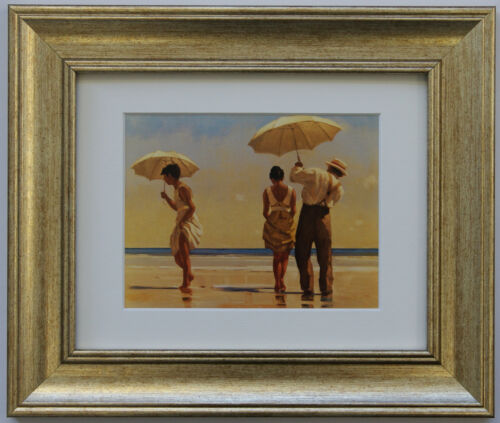 The Beach Collection by Jack Vettriano Set of 5 Framed /& Mounted Art Prints Gold