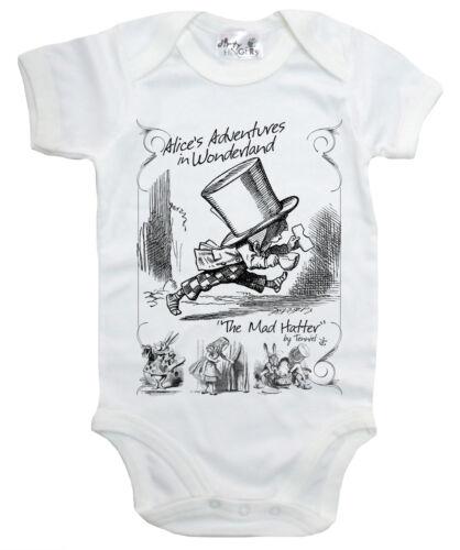 """Dirty Fingers /""""Alice in Wonderland The Mad Hatter/"""" body bébé Dors-bien Gilet"""