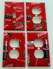 Coke Coca Cola Light Switch Plate Outlet Cover Kitchen Wall Bundle Set of 4