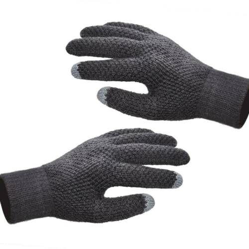 Men Women Touch Screen Gloves Winter Warm Fleece Lined Kint Smartphone Gloves AK
