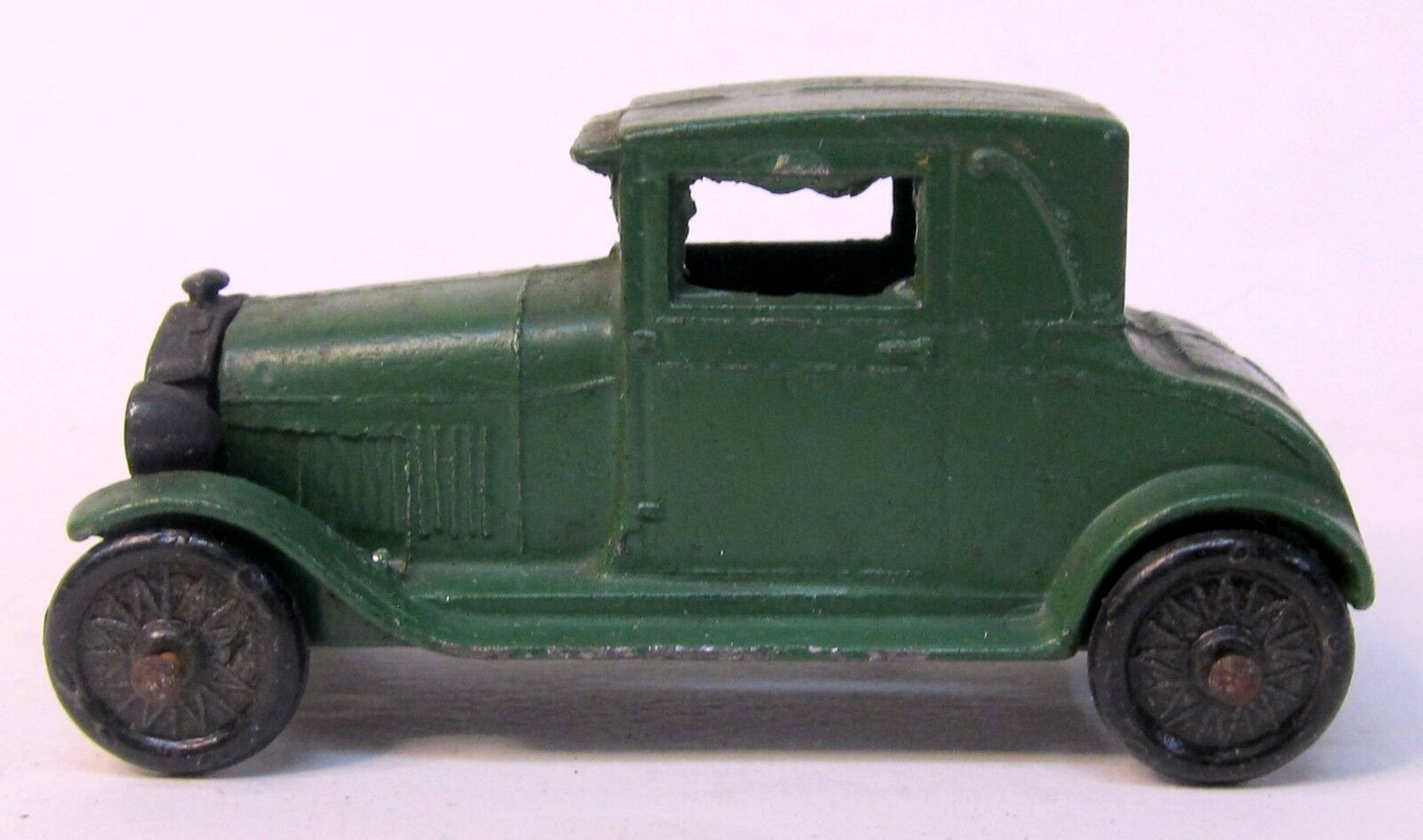 1928 Tootsietoy  4655 MODEL A FORD Grün w  disc wheels NICE ORIGINAL