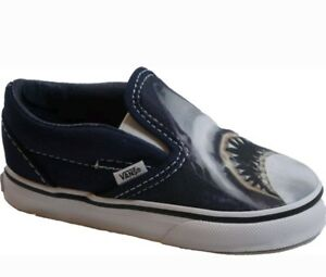 8ca431ceec45 Details about New VANS toddler boy size 5.5 classic slip on DIGI SHARK shoe