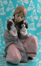 Lladro # 6226 ~  SNUGGLE  UP ~ Girl W/Puppy    *MINT*      BUY 1 GET 1 50% OFF