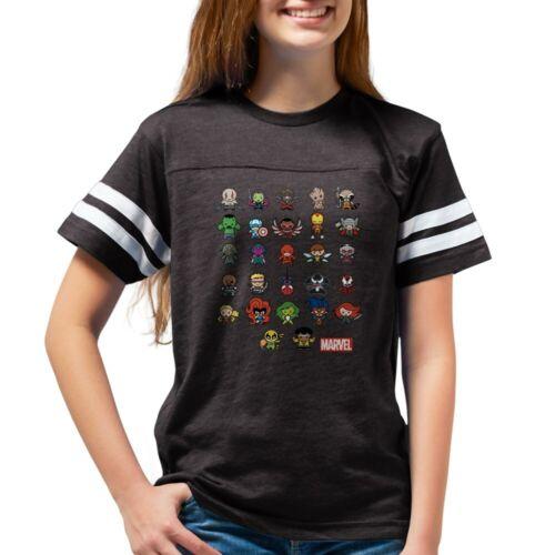 93672653 CafePress Marvel Kawaii Heroes Dark Youth Football Shirt
