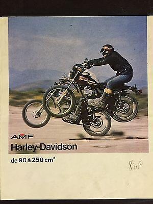 Prospectus PLV Pub Harley Davidson AMF Z & X 90 - SX 125 175 250