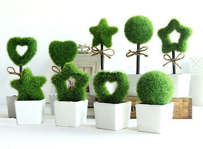 ARTIFICIAL FLOWERS TREES SMALL CERAMIC POTTED PLANTS HOME SHOP OFFICE TABLE DIY