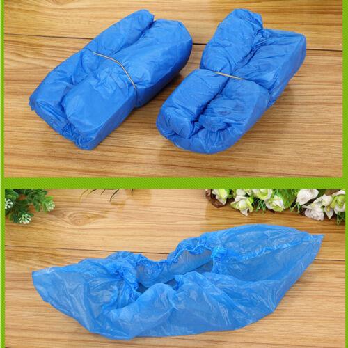 200 Stk Einmal Überschuhe Überzieher Einweg Schuhüberzieher Regenschutz