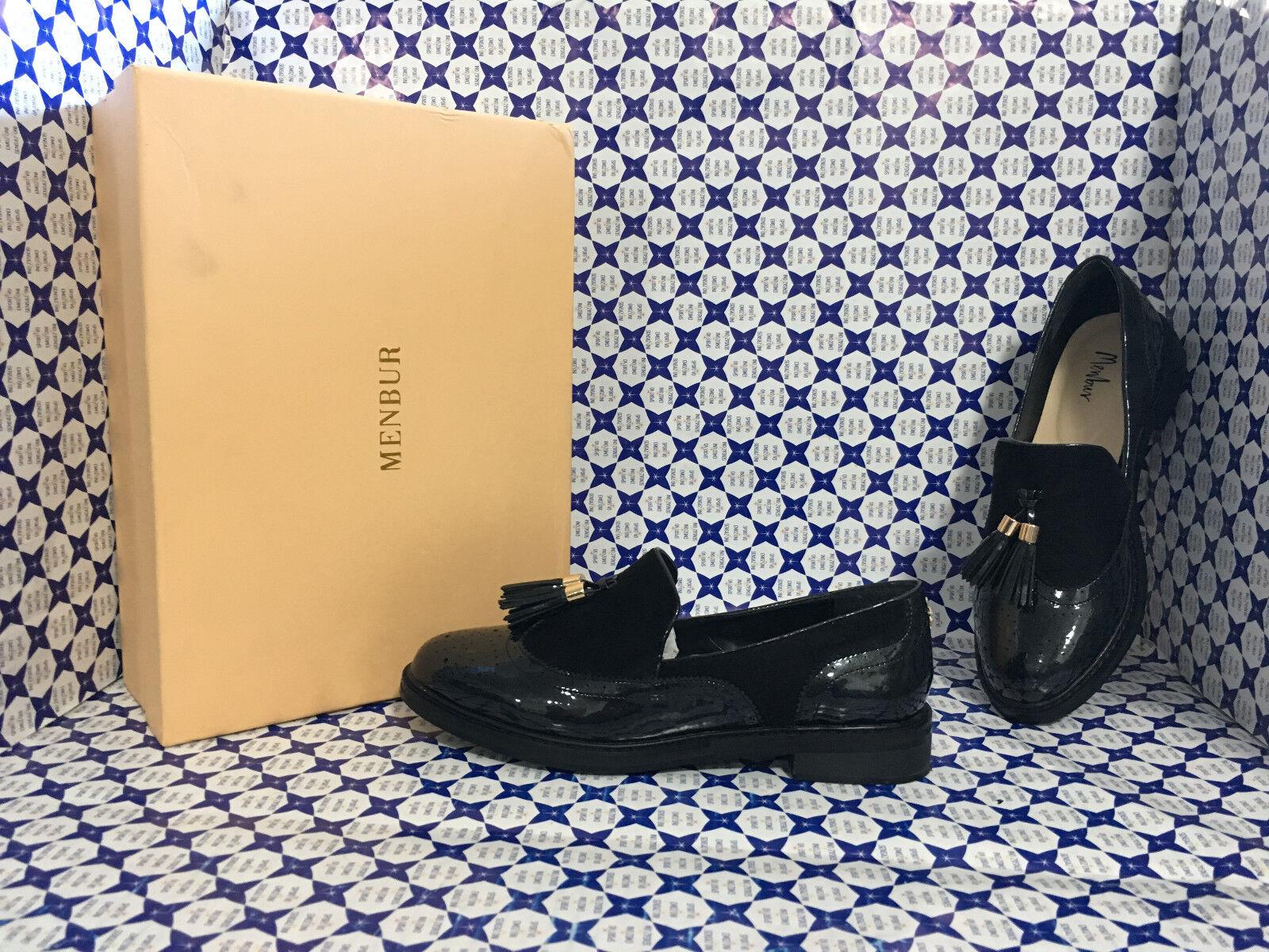 Chaussures Menbur femmes - Mocassino Coda di Rondine Nappine - noir - 7746