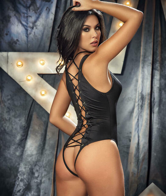 iCollection Womens Lace Babydoll with Back Keyhole