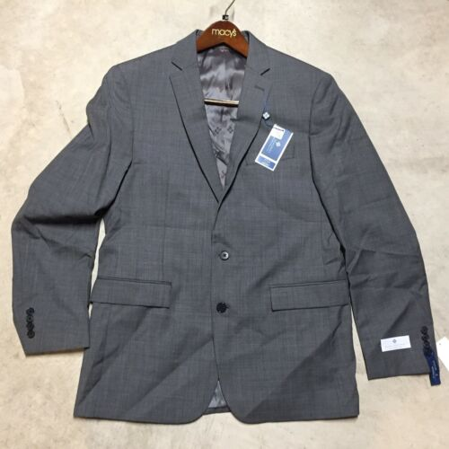 mens ryan seacrest modern fit slim suit jacket coat blazer wool 12-18