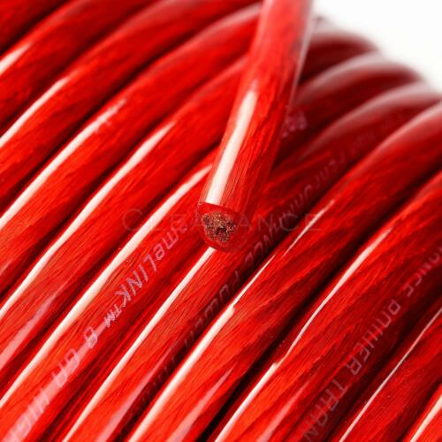 Road Rage Red 8 Gauge AWG 250 FT Xtreme Hight Performance Wire Cables