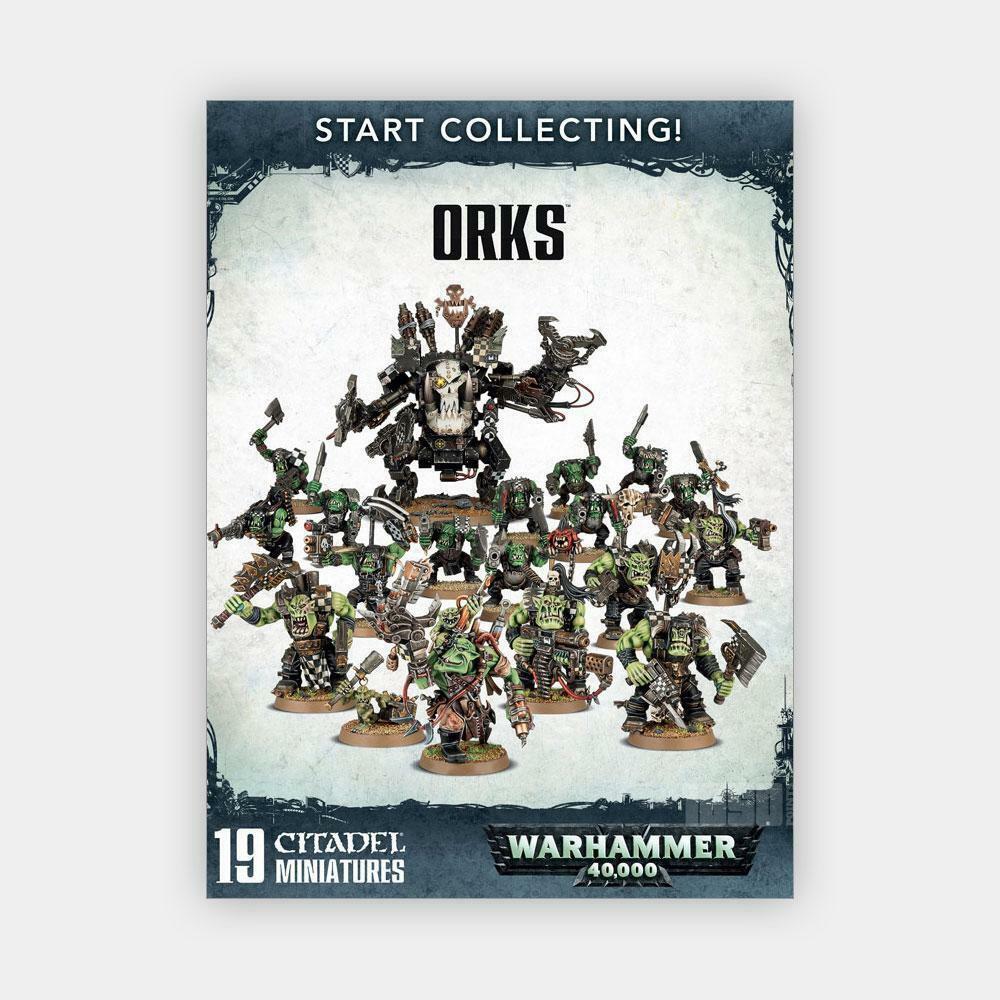 Warhammer 40K  empezar a recolectar  Orks 70-50