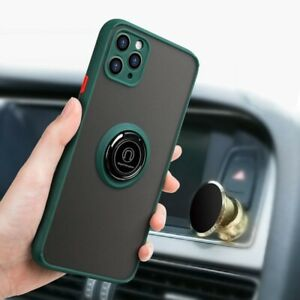 Mobile Shockproof Case Car Holder Magnetic Bracket Ring Back Cover For iPhone