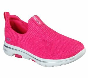 Hot Pink Slip On Skechers Shoes Go Walk