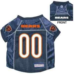 fa9e8ea83 NEW CHICAGO BEARS PET DOG PREMIUM NFL JERSEY w NAME TAG ALL SIZES