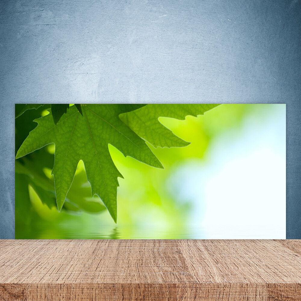Crédence de cuisine en verre Panneau Paroi 100x50 Nature Feuilles