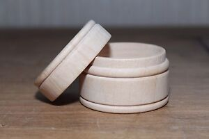 Large-Round-Raw-Wood-Scrapbooking-Jewelry-Ring-Keepsake-Pill-Powder-Box-w-Lid