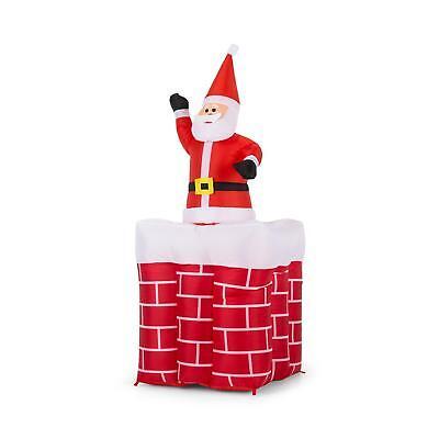 Gebrauchte Weihnachtsdeko.Weihnachtsmann Nikolaus Aufblasbar Weihnachtsdeko Led Beleuchtet 180 Cm Kamin