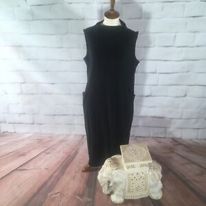 J-Jill-Black-Dress-Cute-Casual-Women-s-Large-L-E07