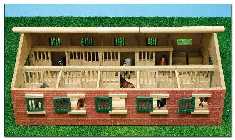 Pferdestall mit 9 Pferdenboxen Siku 1 32 Van Manen Kids Globe 610544