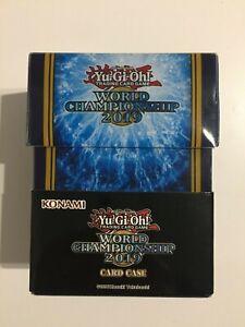 YUGIOH-World-Championship-2019-Deck-Box-Card-Case-WCS-Blau-Blue-Neu-OVP