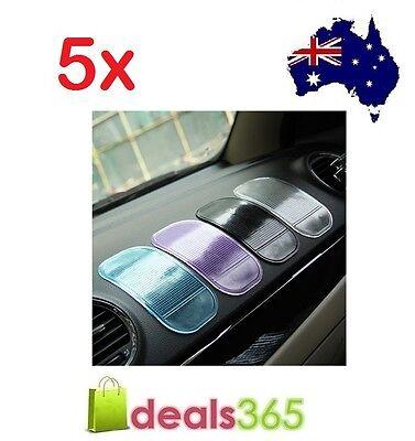 NEW 5 X Car Magic Grip Sticky Pad Anti Non Slip Dash Mat
