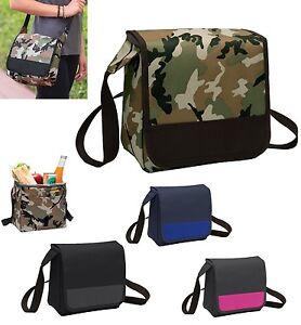 Image Is Loading Insulated Lunch Cooler Messenger Bag Shoulder Strap Food