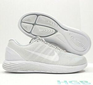 3f38b3e01f26 Image is loading Nike-Lunarglide-9-Mens-Platinum-White-Running-Training-