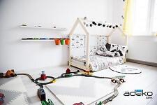 Lit Enfant  Bébé 60x120cm - 160x200cm NEUF Maison 12 Dimensions Bois NATUREL