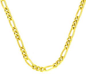 45-cm-Figaro-Kette-Halskette-585-Gold-14-Kt-Gelbgold-massiv-auch-fuer-Teenies