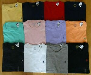 Polo-Ralph-Lauren-Mens-T-Shirt-Brand-New-With-Tag-CREWNECK-Tee-S-M-L-XL-XXL