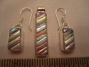 Dichroic-Glass-Pendant-amp-Earrings-w-Sterling-33