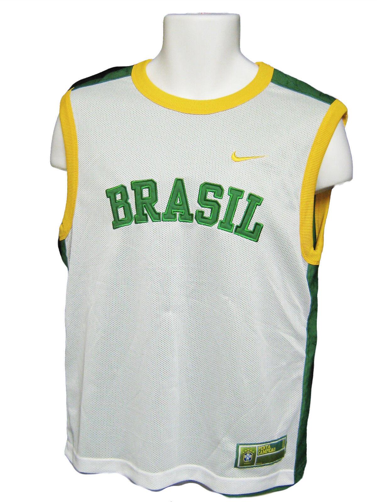 NIKE BRAZIL Dual Layer Reversible Football Training Vest Sleeveless Shirt  M