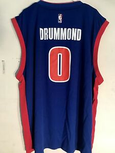 Image is loading Adidas-NBA-Jersey-Detroit-Pistons-Andre-Drummond-Blue- bff15a75a